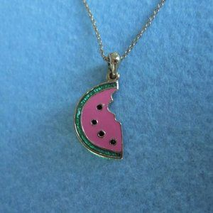 BETSY JOHNSON ~ Watermelon Pendant Necklace!
